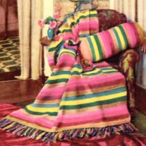 Rainbow Afghan Crochet Pattern - Vintage Crafts and More