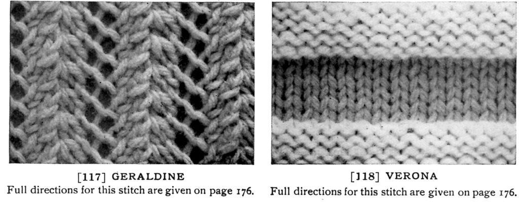 fleishers-knitting-scarf-patterns-geraldine-and-verona-stitches
