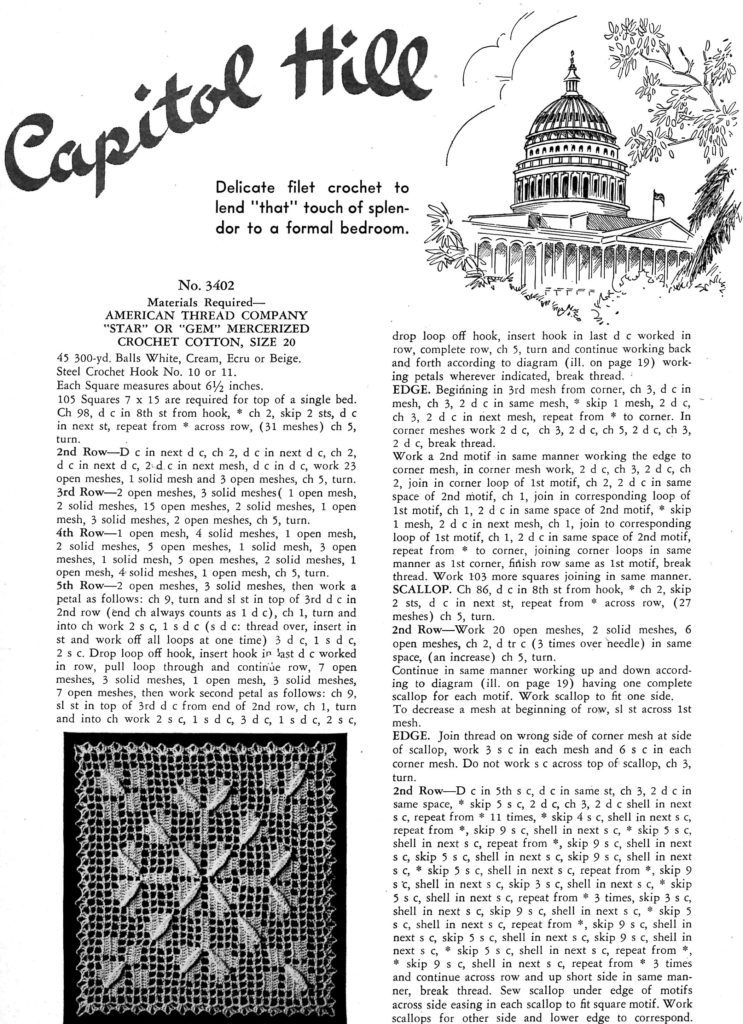 capitol-hill-bedspread-filet-crochet-pattern-instructions-vintage-crafts-and-more