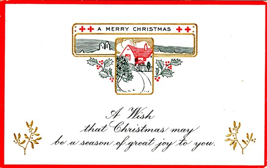Merry Christmas Postcard 1915