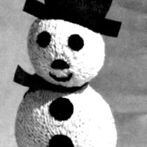 Snowman Knitting Pattern - Vintage Crafts and More