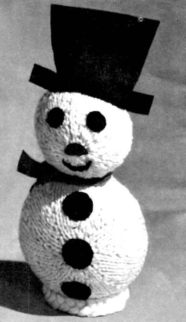 Snowman Knitting Pattern From Aunt Lydia S Rug Yarn
