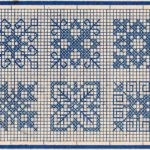 Cross Stitch Snowflakes or Border Embroidery Patterns