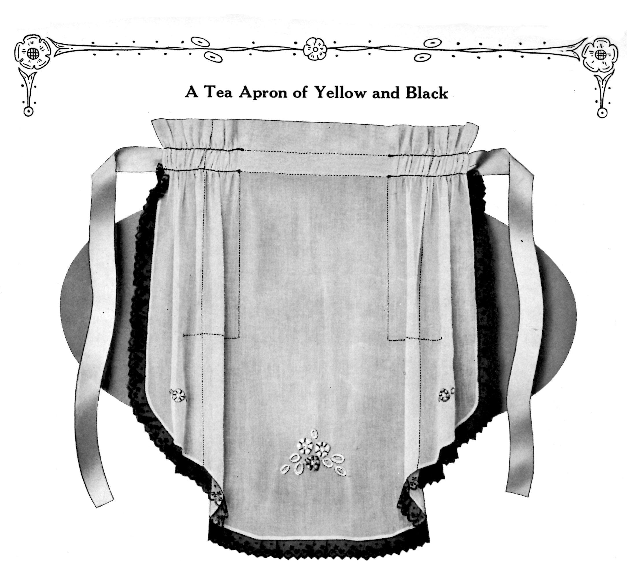 White tea apron - A Tea Apron Vintage Crafts And More