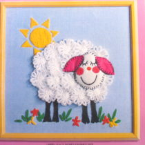 Lamb Instant Stitchery Kit - Vintage Crafts and More