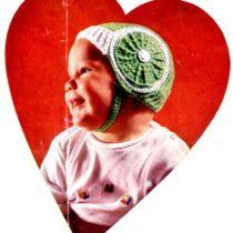 Baby Beauties Helmet Hat Cap Crochet Pattern - Vintage Crafts and More
