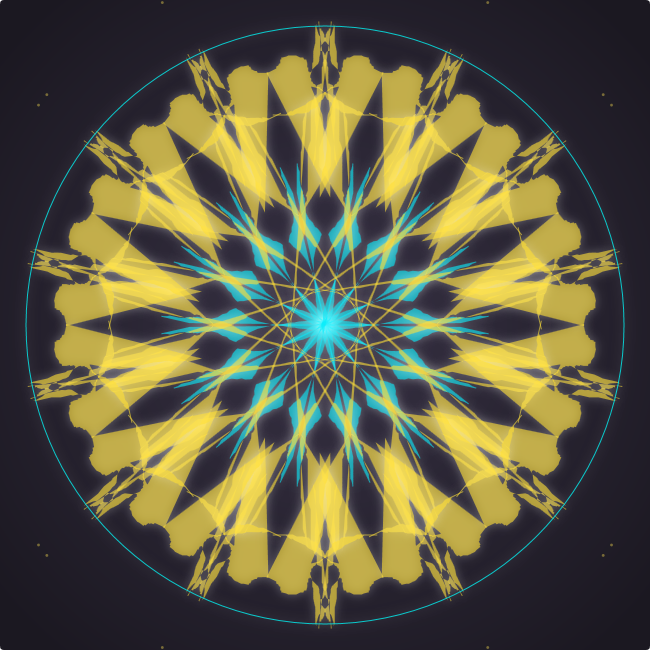 mandala creator blue and yellow