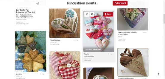 Heart Pin Cushions on Pinterest