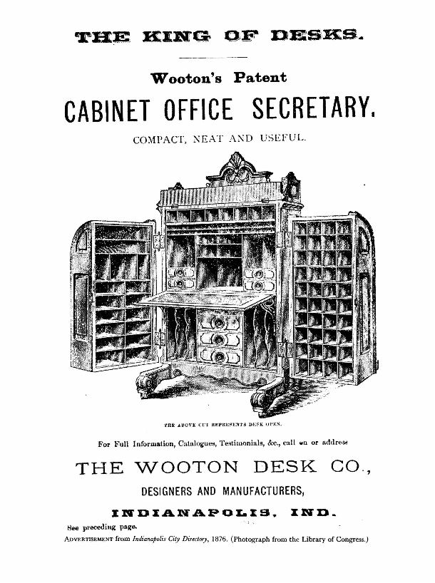 Wootens Patent Cabinet Office Secretary Desk