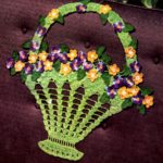 Crochet Flower Basket Pattern from Smart Chair Sets Coats and Clark's Booklet