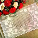 Embossed Daisy Placemat Free Filet Crochet Pattern