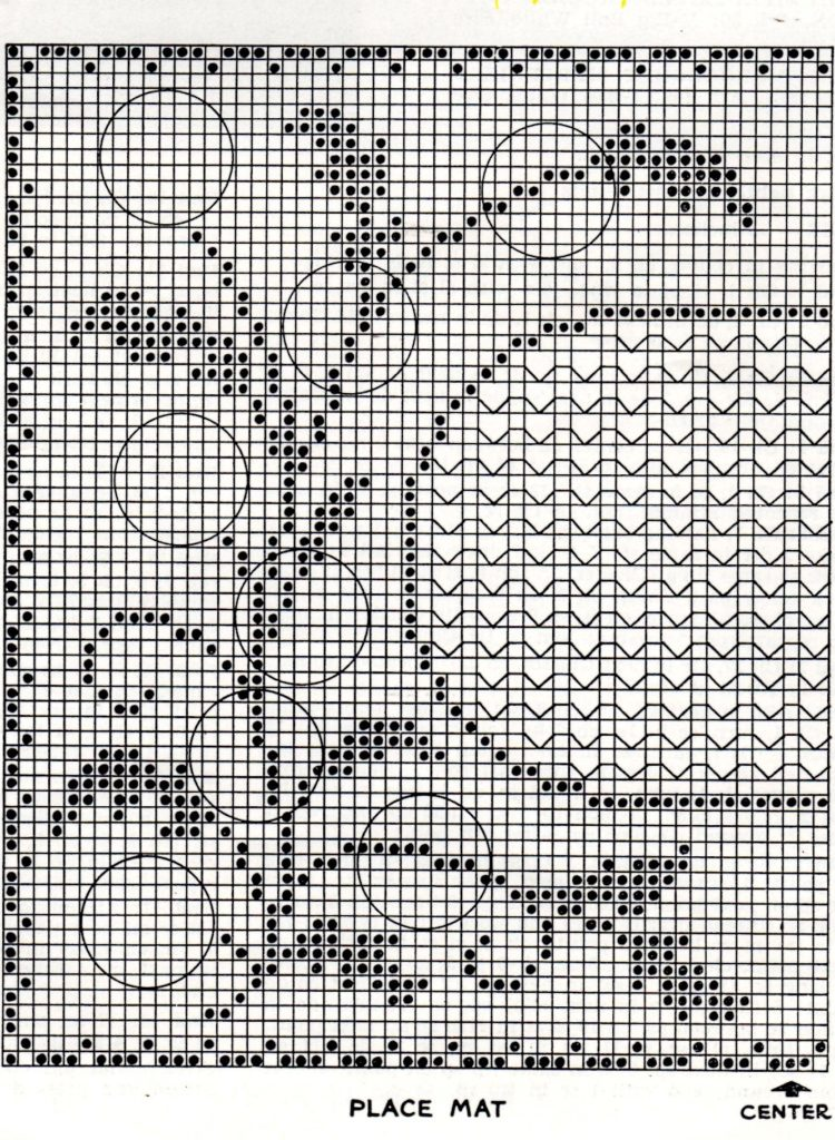 Embossed Daisy Placemat Free Crochet Pattern - Vintage Crafts and More