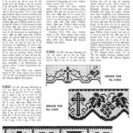 Filet Crochet Edging Patterns for Lace Altar Cloths and Robes