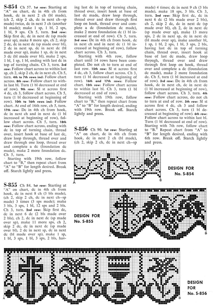 Filet Crochet Edging Patterns for Altars and Robes Lily Chalice - Vintage Crafts and More