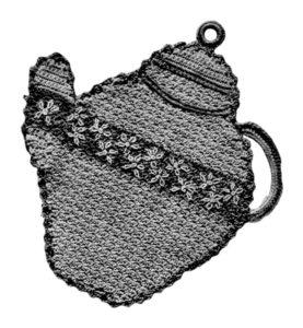 Teapot Potholder Crochet Pattern