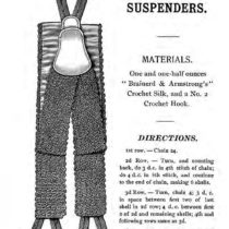 Crochet Pattern for Suspenders - Vintage Crafts and More