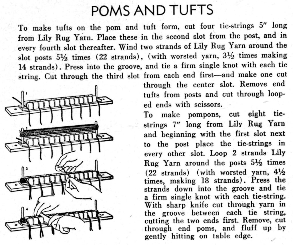 Instructions for Lily Pom and Tufts Form