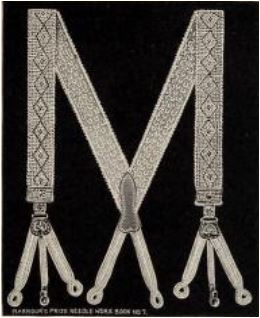 crochet pattern lace suspenders