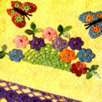 crochet pattern summertime towel set butterflies