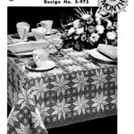Crochet Pattern Shining Star Tablecloth Coats and Clark's Design of the Month Vintage Leaflet