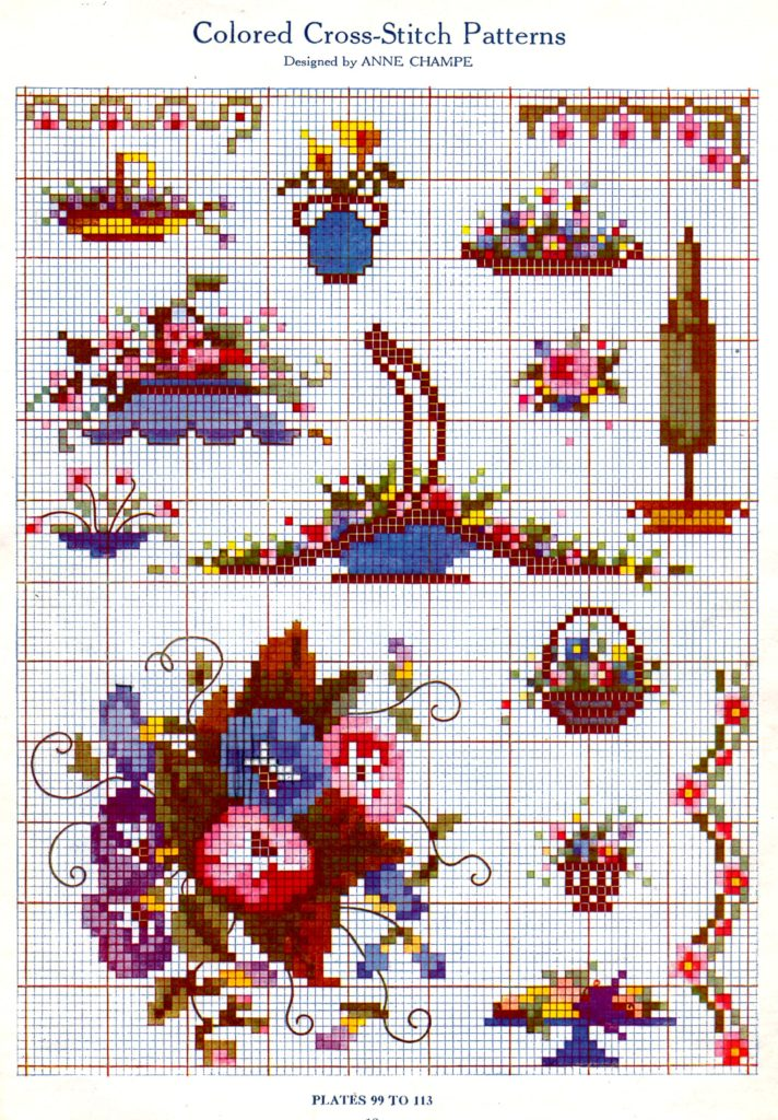 Cross Stitch Chart in Color