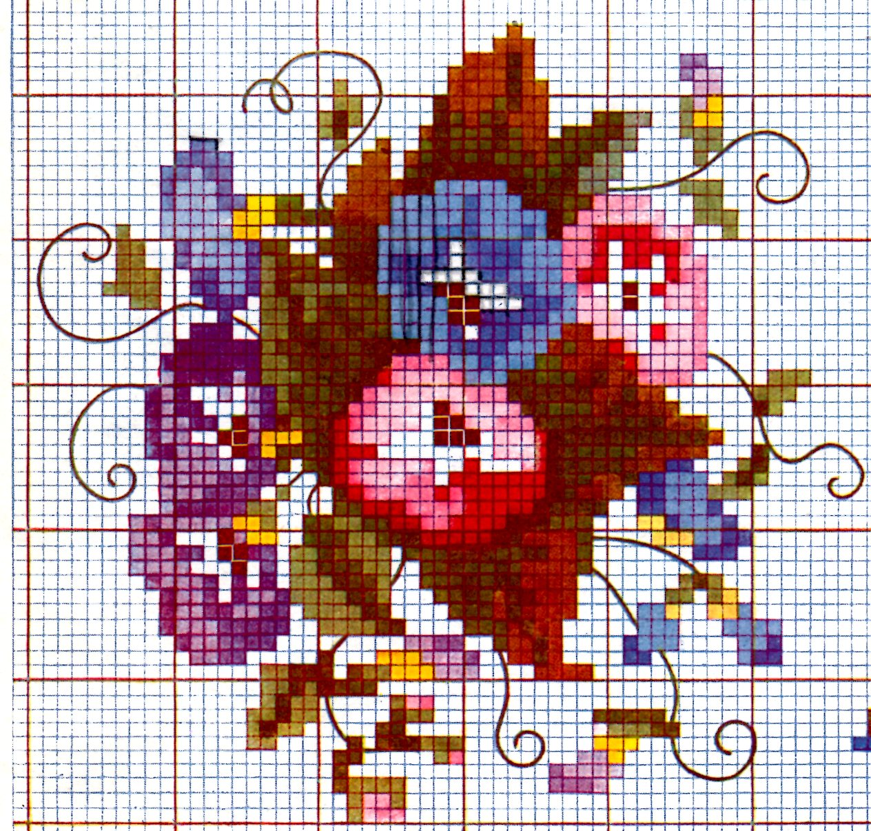Cross Stitch Design Charts in Color by Anne Champe Orr - Vintage ...