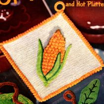 corn on the cob potholder crochet pattern