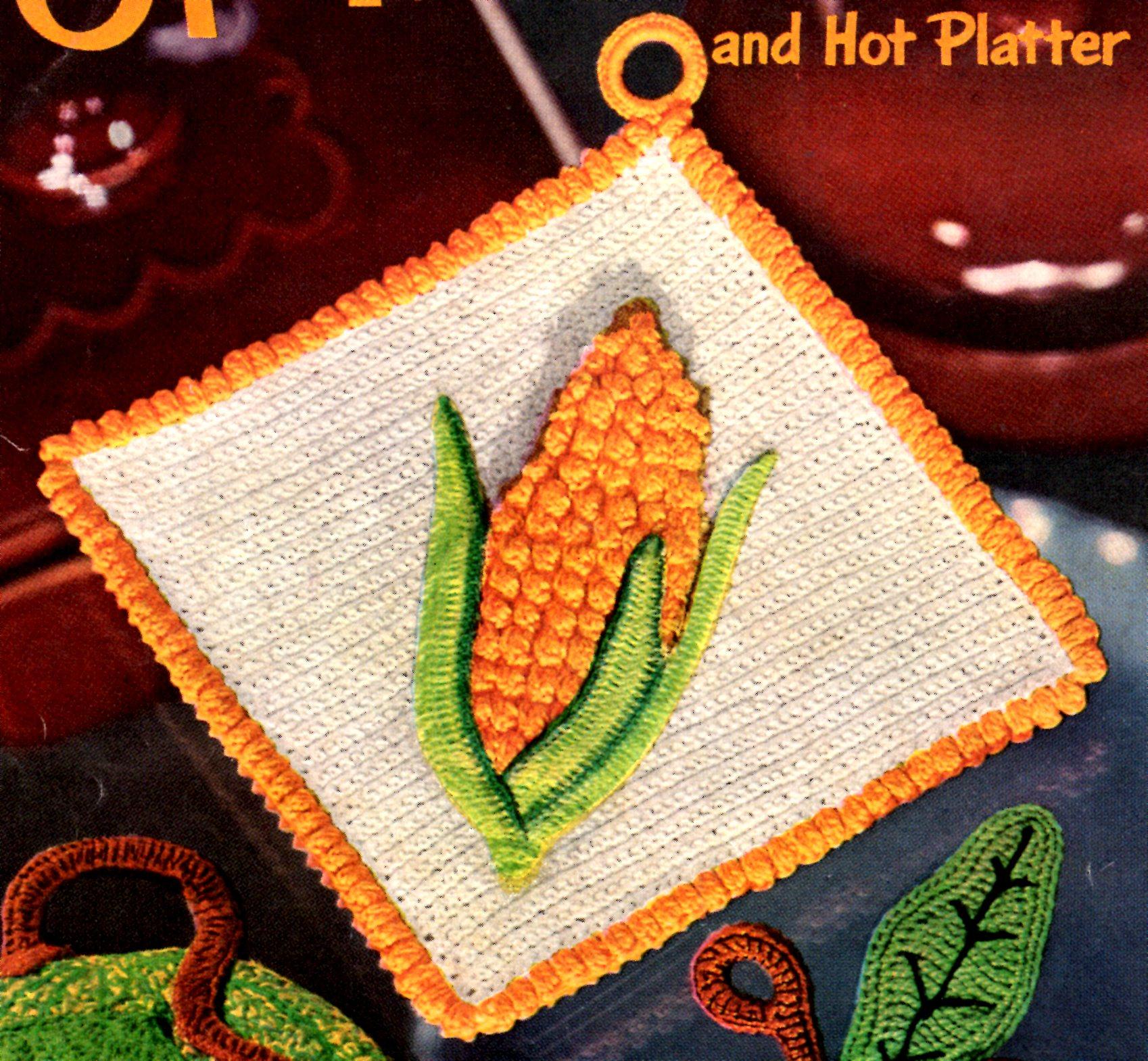 Corn Potholder Vintage Crochet Pattern Vintage Crafts And More