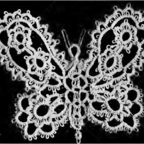 Corticelli Lessons in Tatting Butterfly Pattern