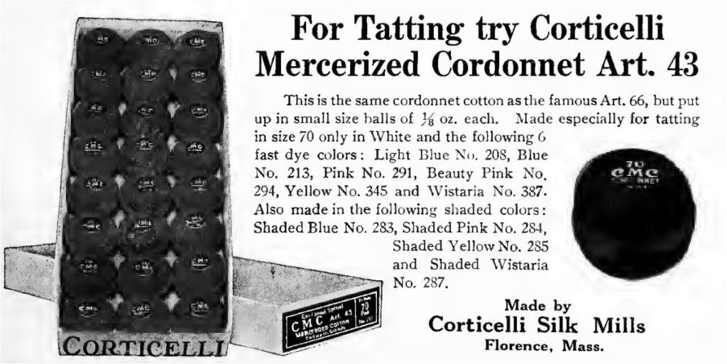 Corticelli Mercerized Cordonnet Ad