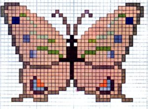 cross stitch pattern butterfly