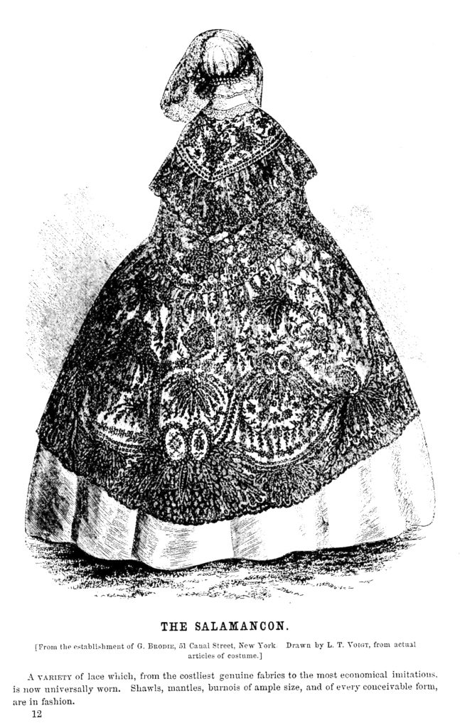 Godey's Lady's Book 19th century lace cape illustration