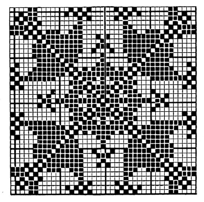 filet crochet bedspread mayfair chart