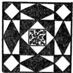 Storm At Sea Quilt Pattern 1932 Kansas City Star Newspaper