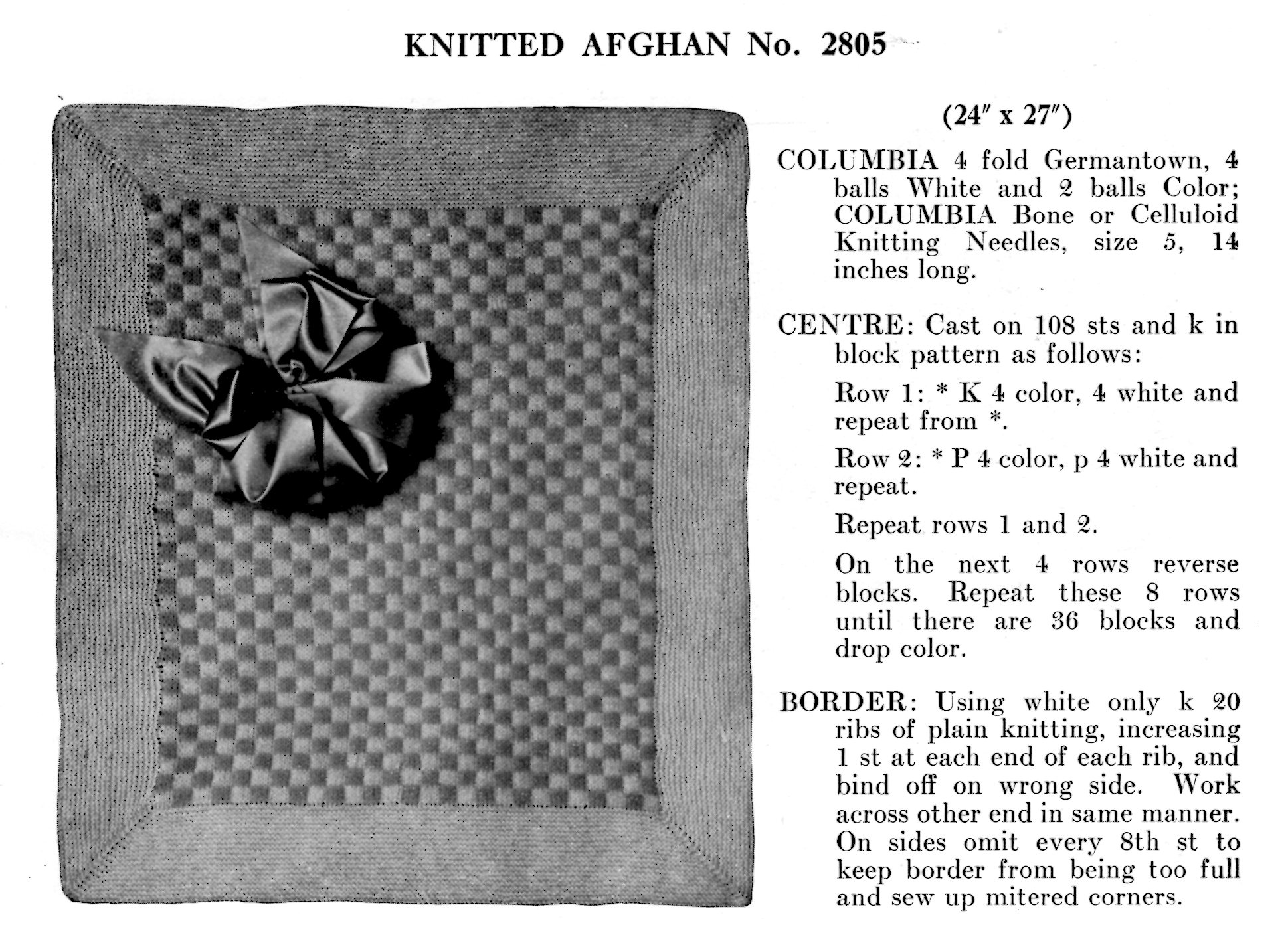 knitted afghan pattern baby blanket