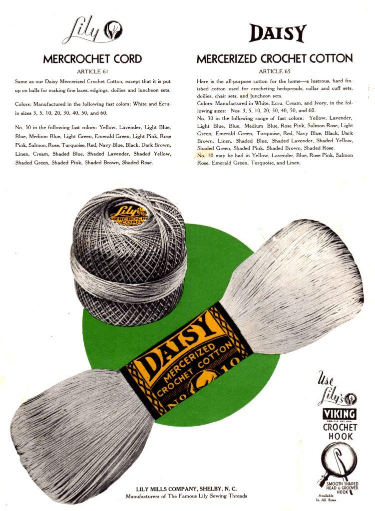 Lily Daisy Mercerized Crochet Cotton