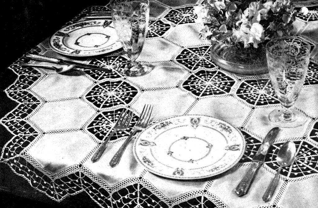 Spiderweb Design Luncheon Cloth Crochet Pattern