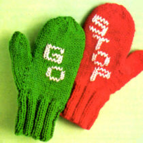 Stop and Go Mittens Knitting Pattern