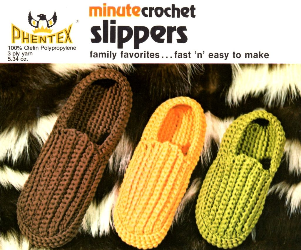 Minute Crochet Slippers Pattern