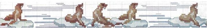 Arctic Animals Seals Cross Stitch