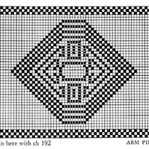 Filet crochet archives vintage crafts and more filet crochet pattern free vintage stained glass chair back and arm piece ccuart Gallery