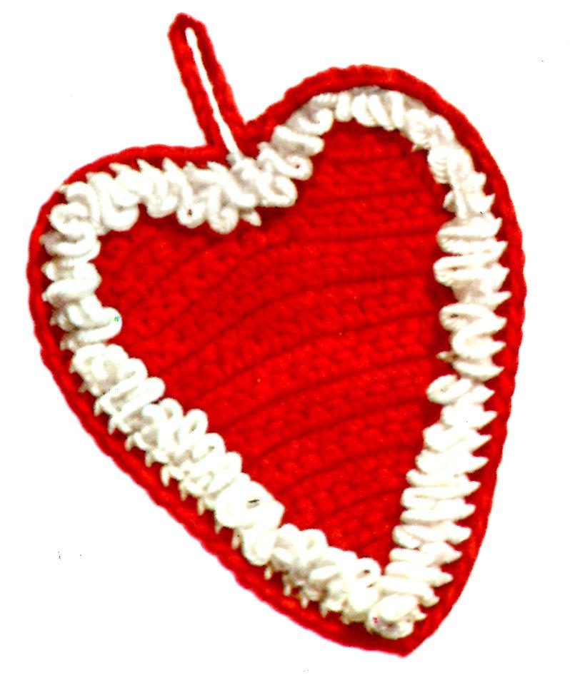 Vintage Crochet Heart Shaped Potholder Pattern Vintage Crafts And More