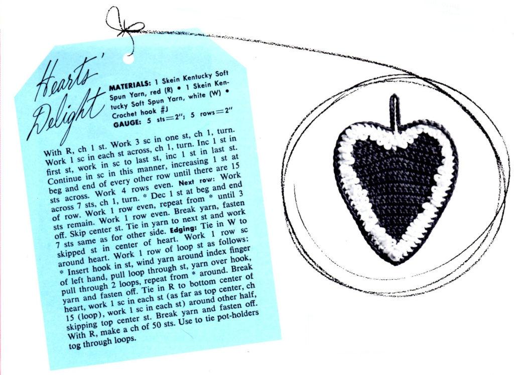 Heart Potholder Crochet Pattern - Vintage Crafts and More