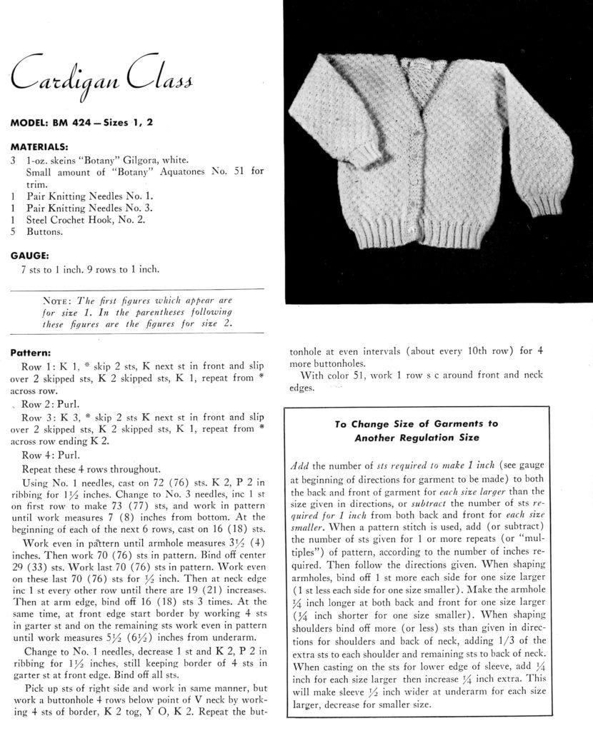 Toddler Cardigan Knitting Pattern Instructions