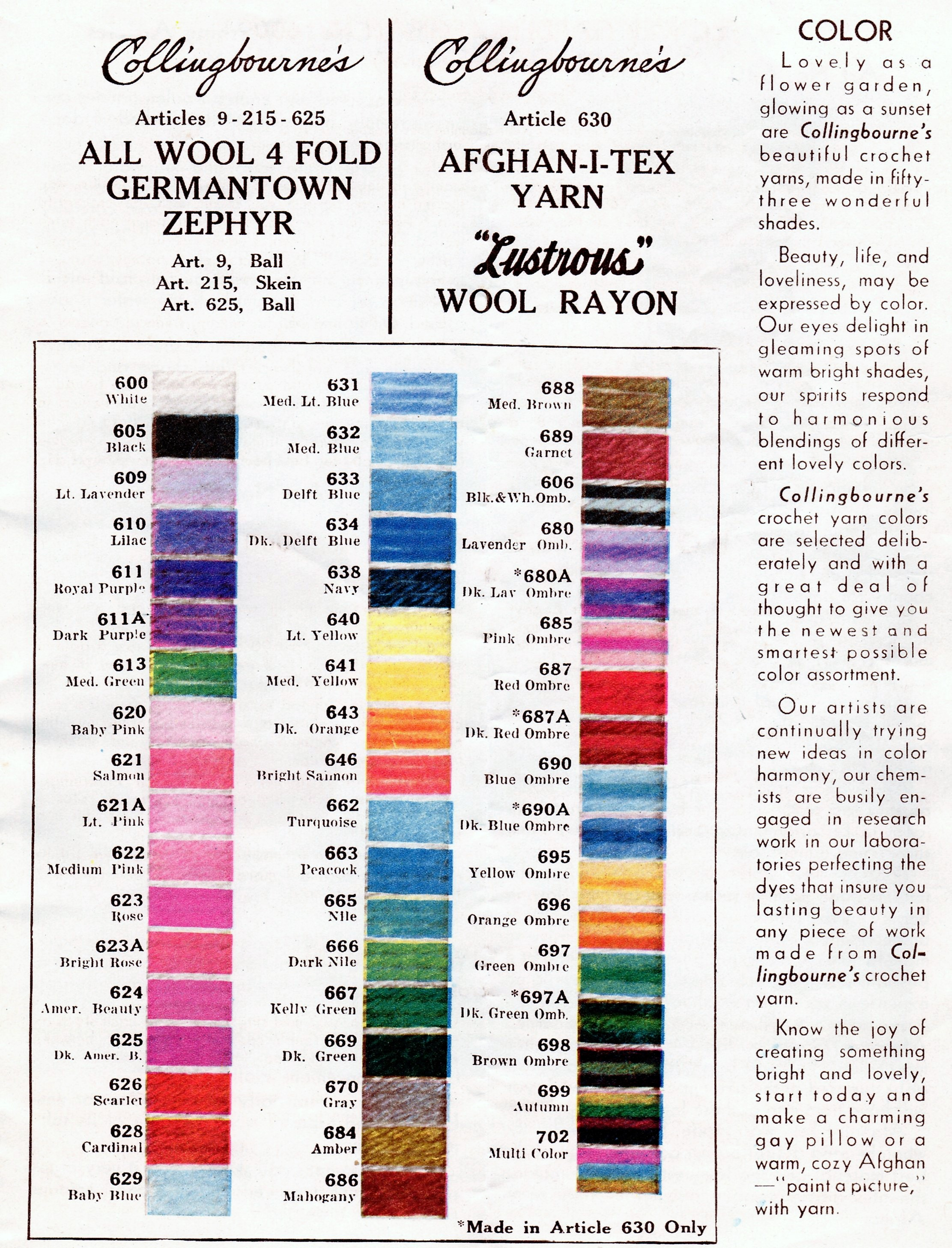 Granny Square Afghan Crochet Pattern Vintage Crafts And More Stitch Diagram Patterns Diagrams Collingbourne Yarn Lustrous Wool Rayon Chart