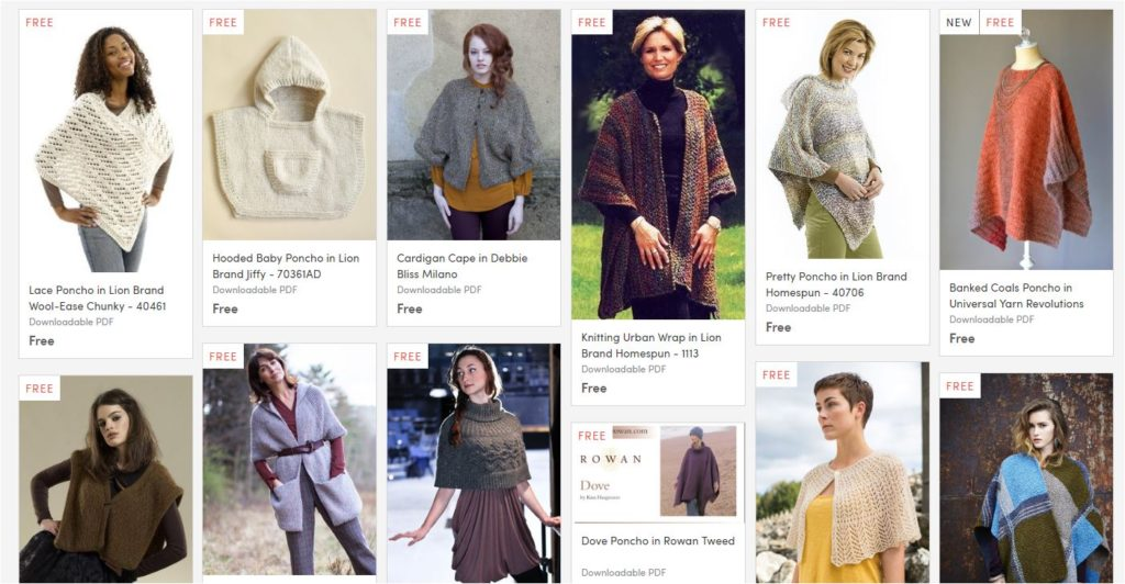 Free Beginner Knit Poncho Pattern Fun and Easy Vintage Knitting ...