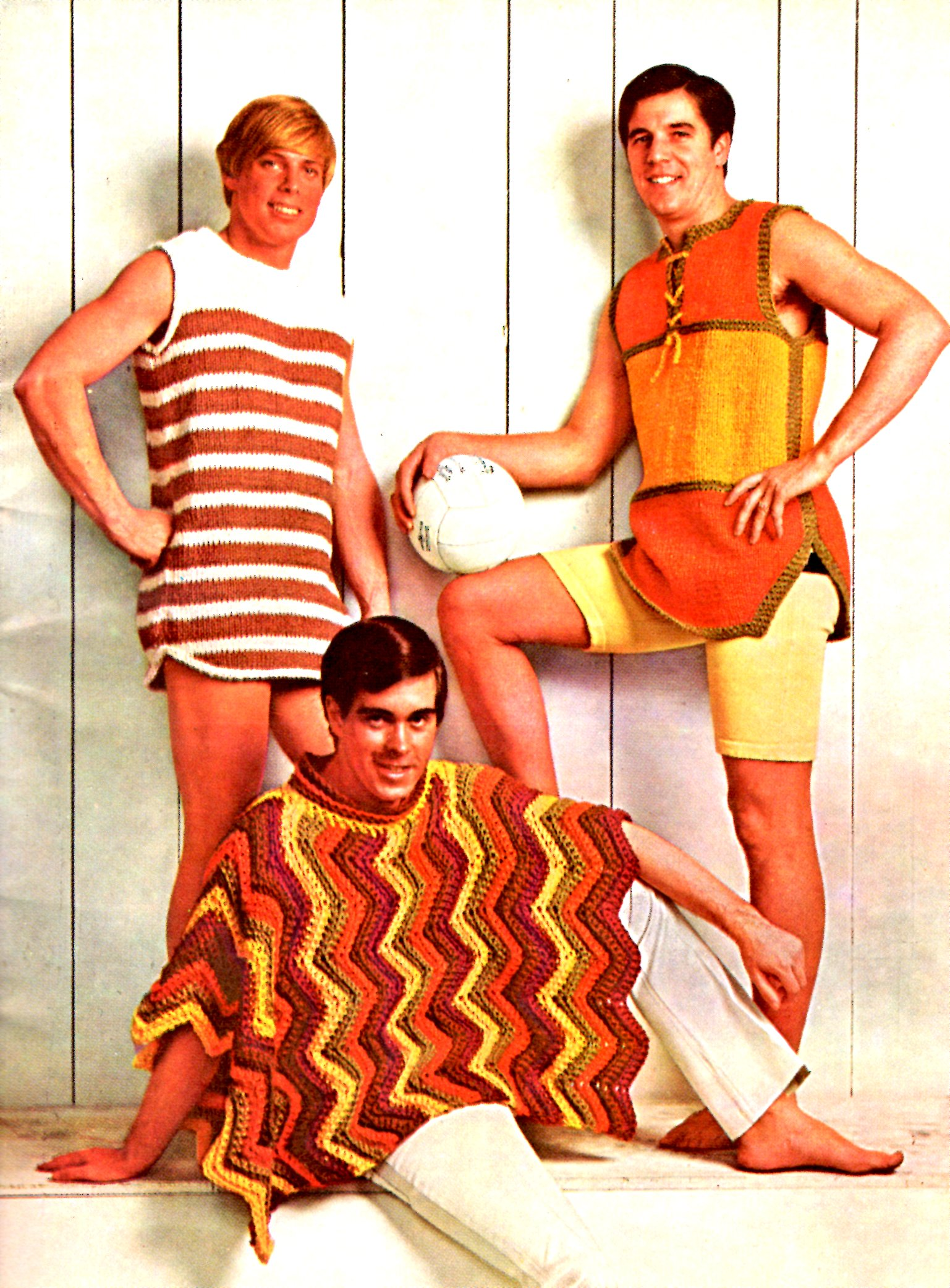 Mens Summer Beach Knit And Crochet Patterns Aunt Lydias Star Book