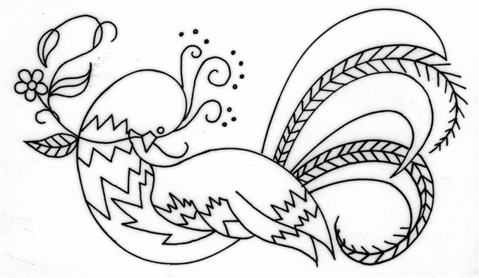 Crewel Embroidered Bird Of Paradise Free Pattern With Instructions