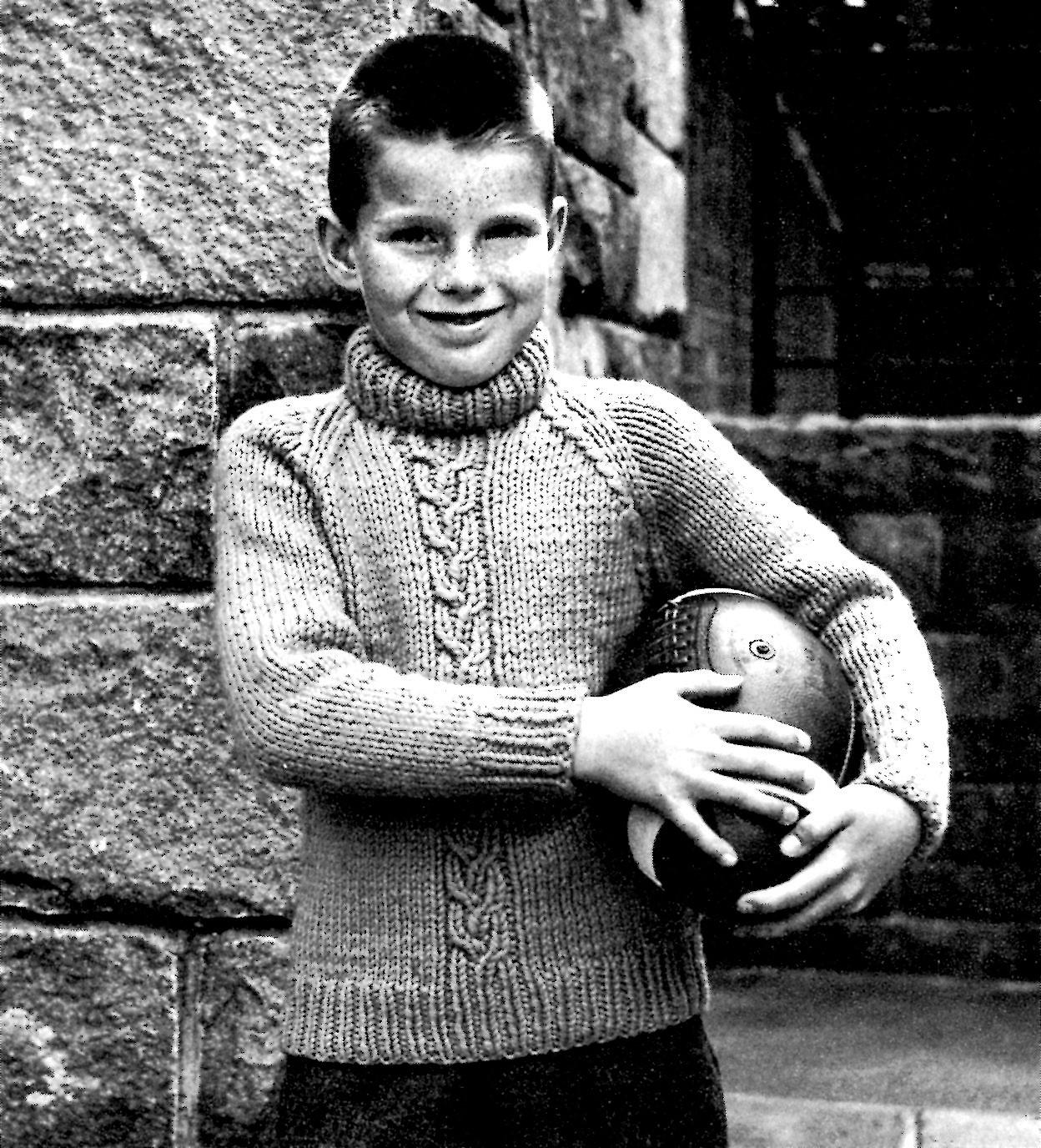 22cf732ac Boys Sweater Knitting Pattern Raglan Sleeved