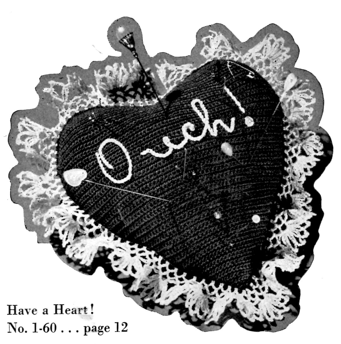 """/""""Have A Heart/"""" Cross Stitch Pattern by THE DRAWN THREAD Valentine"""